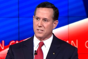 Republican presidential candidate Rick Santorum in Las Vegas, Nevada