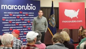 Sen. Marco Rubio speaking at a town hall in Littleton, N.H., on Dec. 22, 2015 (Photo: Dahlia Joseph / RespectAbility Report)