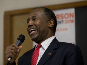 Republican presidential candidate Dr. Ben Carson speaks at a town hall, Wednesday, Jan. 6, 2016, in Panora, Iowa. AP