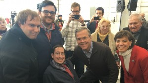 Part of the RespectAbility Team with former Gov. Jeb Bush after a town hall in Iowa.