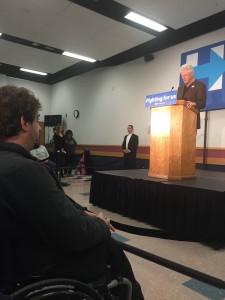 President Bill Clinton in Marshalltown, Iowa
