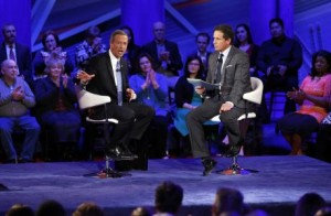 Democratic presidential candidate Martin O'Malley at CNN's town hall at Drake University in Des Moines, Iowa, on Monday