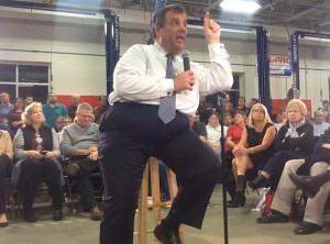 Gov. Chris Christie in Nashua, New Hampshire
