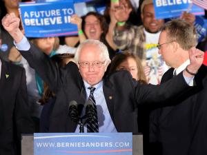 Sen. Bernie Sanders in Concord, New Hampshire