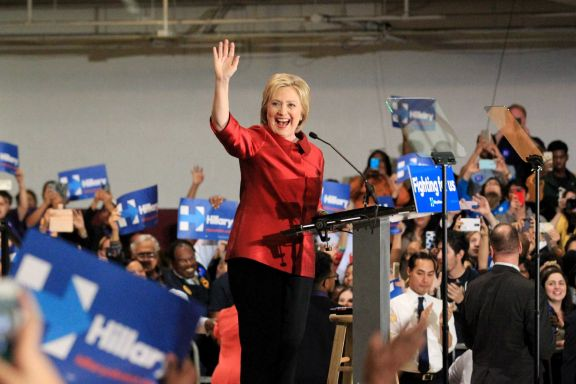 Hillary Clinton greets supporters during a campaign event at Texas Southern University Saturday, Feb. 20, 2016, in Houston. (Jon Shapley, Houston Chronicle)