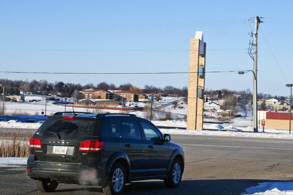 Image of van driving on street in Des Moines