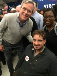 Ben Spangenberg with Gov. Jeb Bush