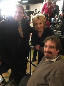 Ben Spangenberg with Secretary Hillary CLinton and RespectAbility Fellow James Trout