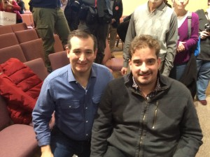 Ben Spangenberg with Sen. Ted Cruz