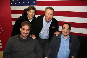 Ben Spangenberg with Gov. John Kasich and RespectAbility's Jennifer Laszlo Mizrahi and Justin Chappell