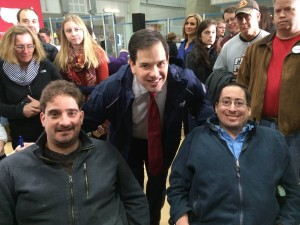Ben Spangenberg withSen. Marco Rubio and RespectAbility's Justin Chappell