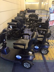 Image of wheelchairs and scooters