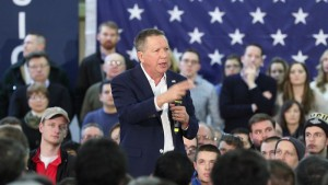 Gov. Kasich speaking at a town hall in Greece, New York on Friday, April 9.