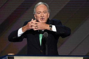 Harkin signing America while on DNC stage