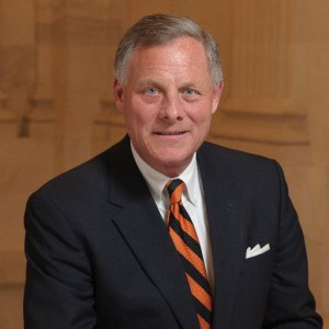 Official headshot of Richard Burr wearing a suit and tie