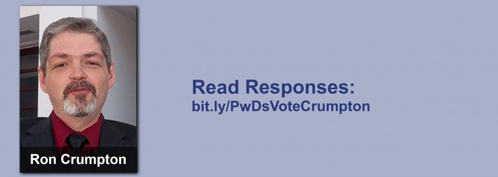 Click on the image to view all of Ron Crumpton's answers to the questionnaire.