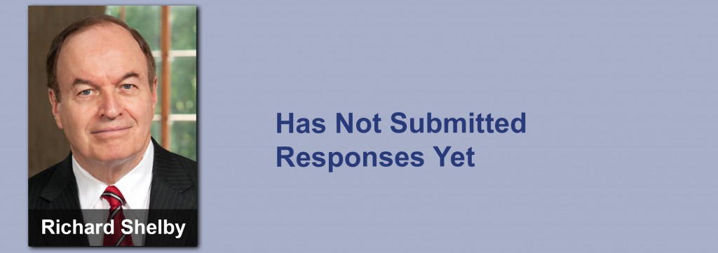 Richard Shelby has not submitted his responses yet.