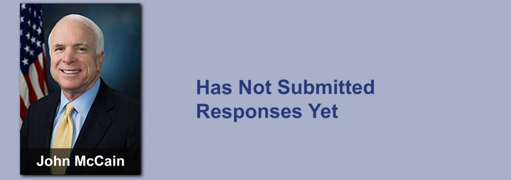 John McCain has not submitted his responses yet.