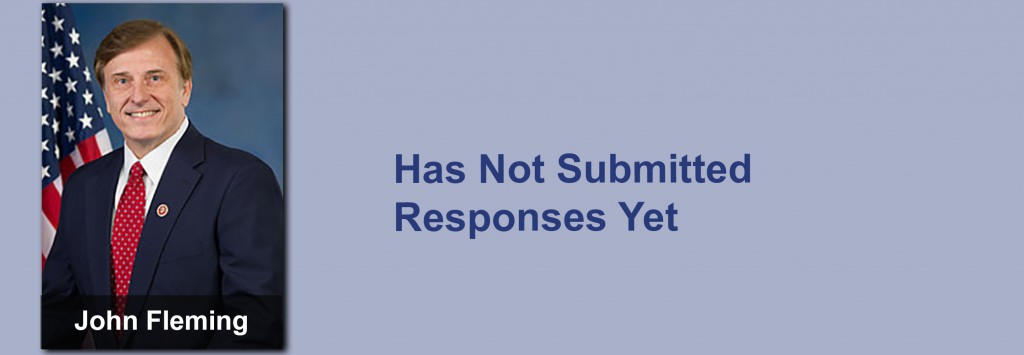 John Fleming has not submitted his responses yet.