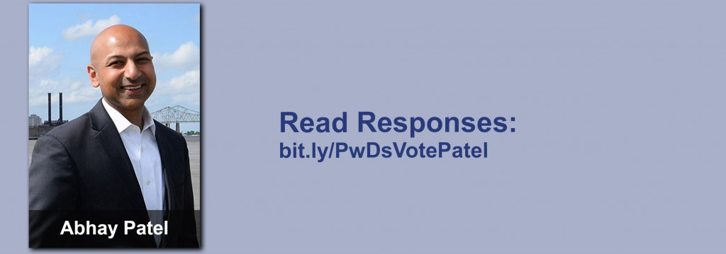 Click on the image to view all of Abhay Patel's answers to the questionnaire.
