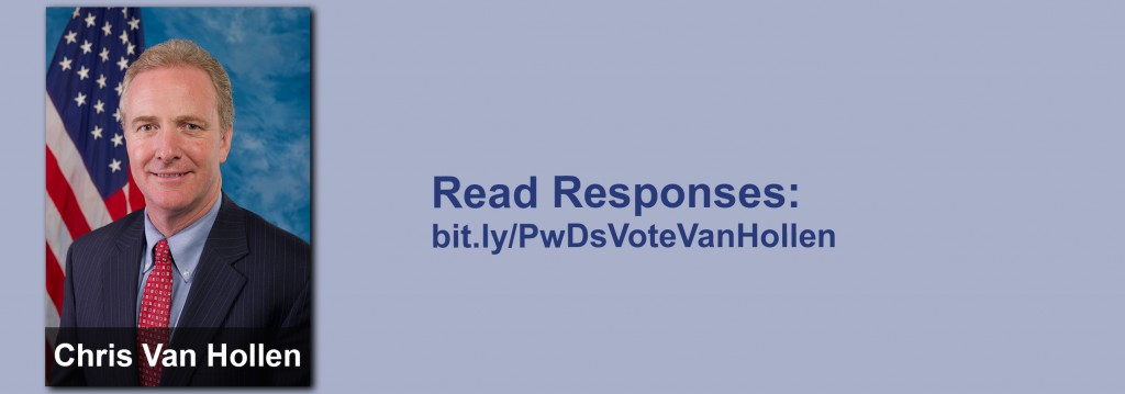 Click on the image to view all of Chris Van Hollen's answers to the questionnaire.