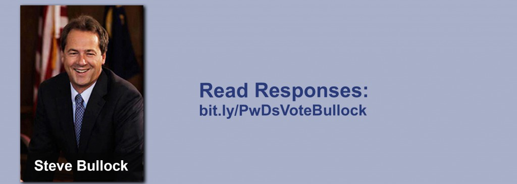 Click on the image to view all of Steve Bullock's answers to the questionnaire.