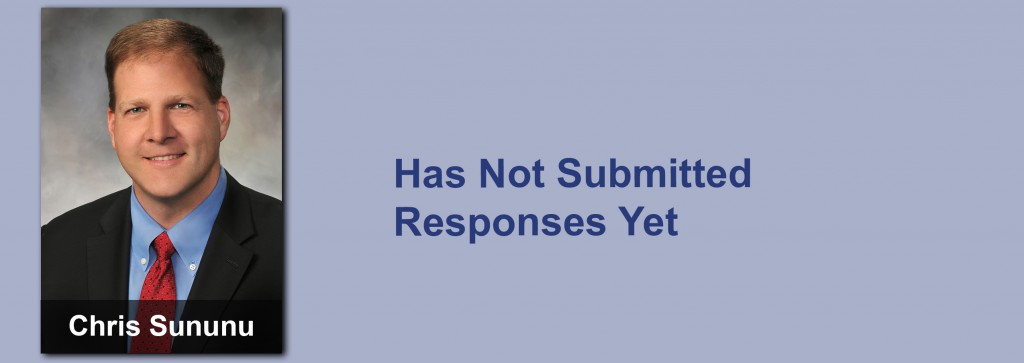 Chris Sununu has not submitted his responses yet