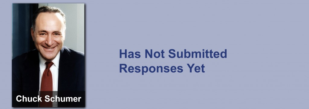 Chuck Schumer has not submitted his responses yet.