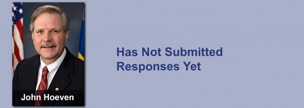 John Hoeven has not submitted his responses yet.
