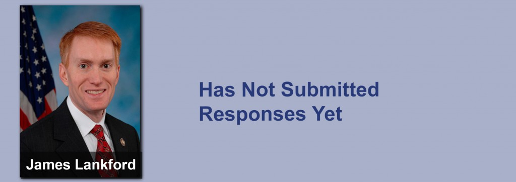James Lankford has not submitted his responses yet.