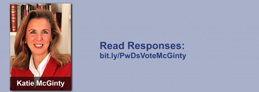 Click on the image to view all of Katie McGinty's answers to the questionnaire.