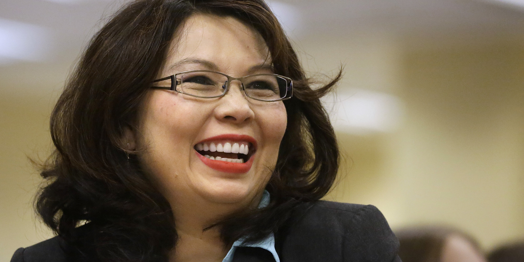 Close up of Tammy Duckworth smiling