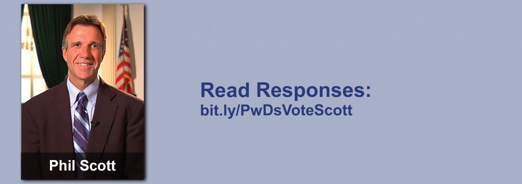 Click on the image to view all of Phil Scott's answers to the questionnaire.
