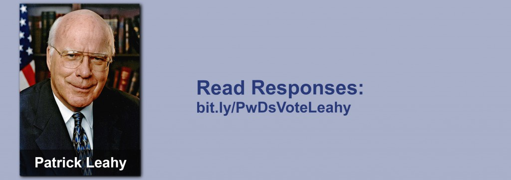 Click on the image to view all of Patrick Leahy's answers to the questionnaire.