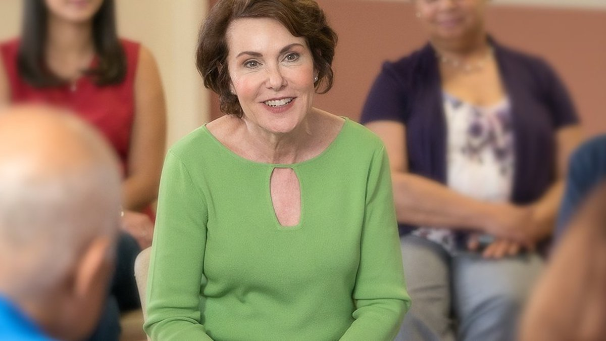 Jacky Rosen speaking to a group of people