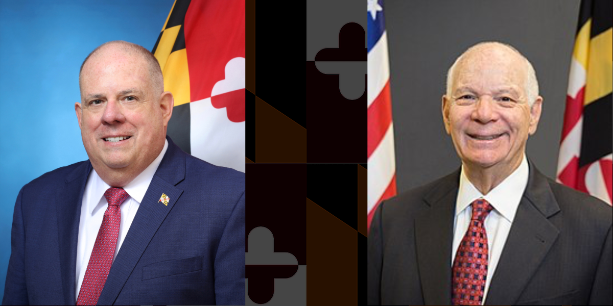 Photos of Larry Hogan and Ben Cardin