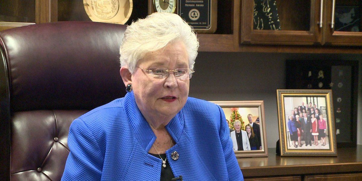 Alabama Governor Kay Ivey sitting in her office