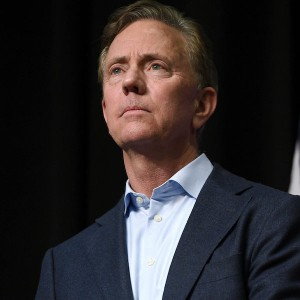 Connecticut Governor Ned Lamont during a rally in Hartford, Connecticut