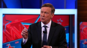 John Hickenlooper speaks at a CNN Town Hall