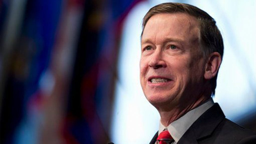 John Hickenlooper smiles for the camera