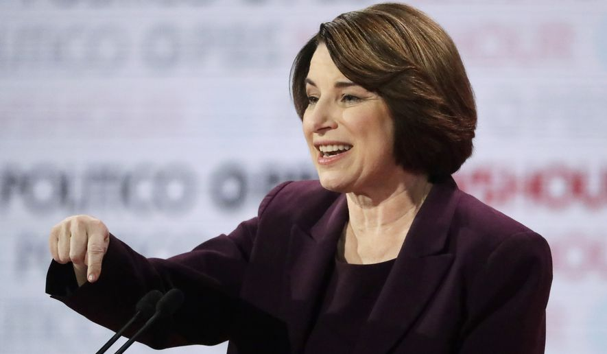 amy klobuchar speaking while using her hands