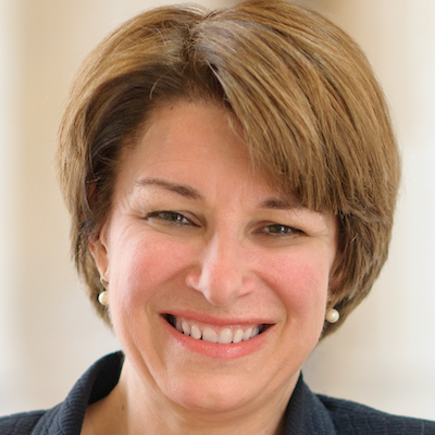 headshot of Amy Klobuchar smiling
