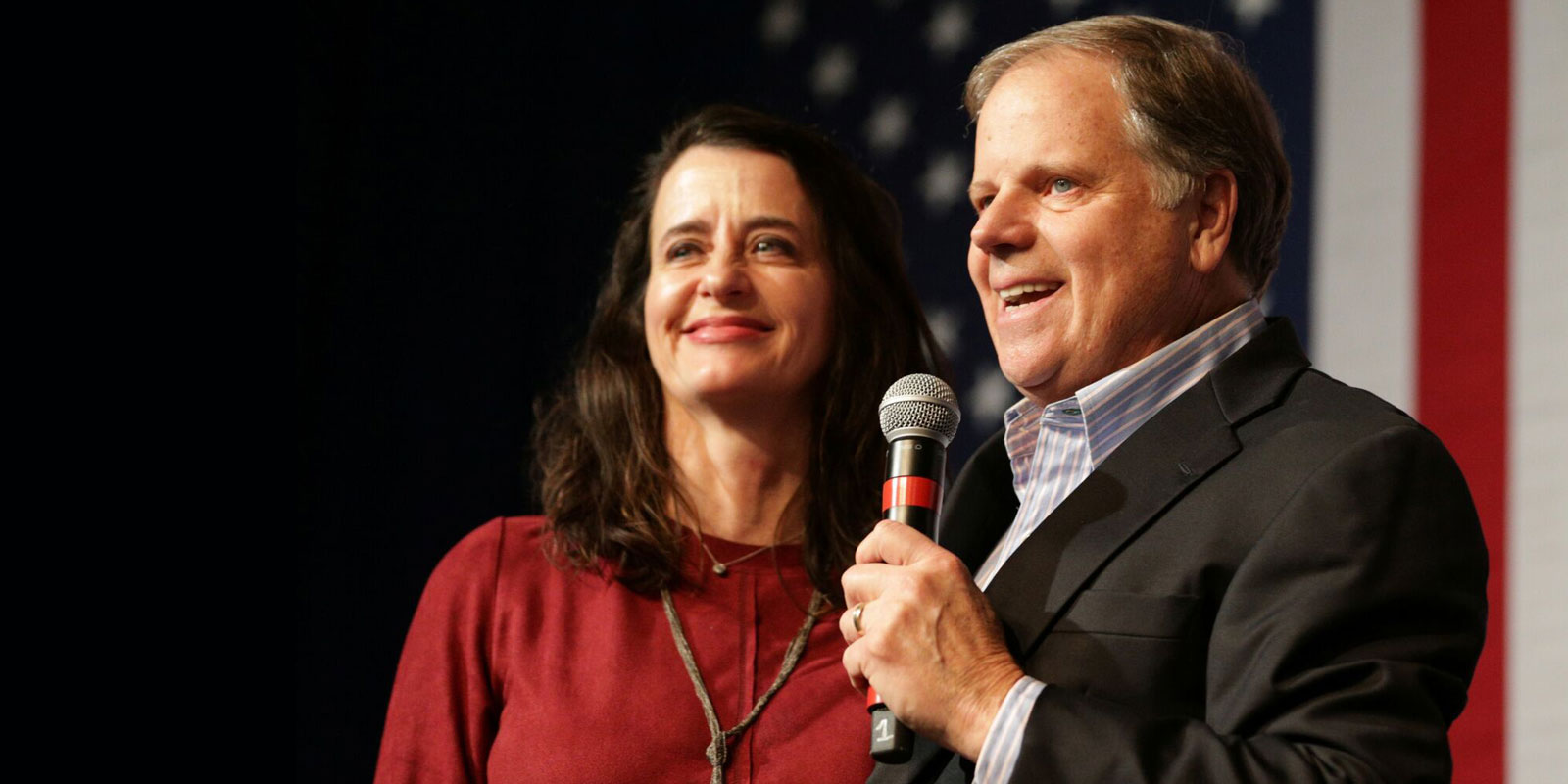 Doug Jones and his wife